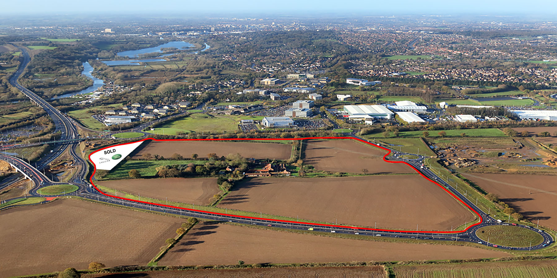 A highly accessible destination on the interchange between the new Broadland Northway and A47 with planning consent for employment, car showroom, retail and leisure use